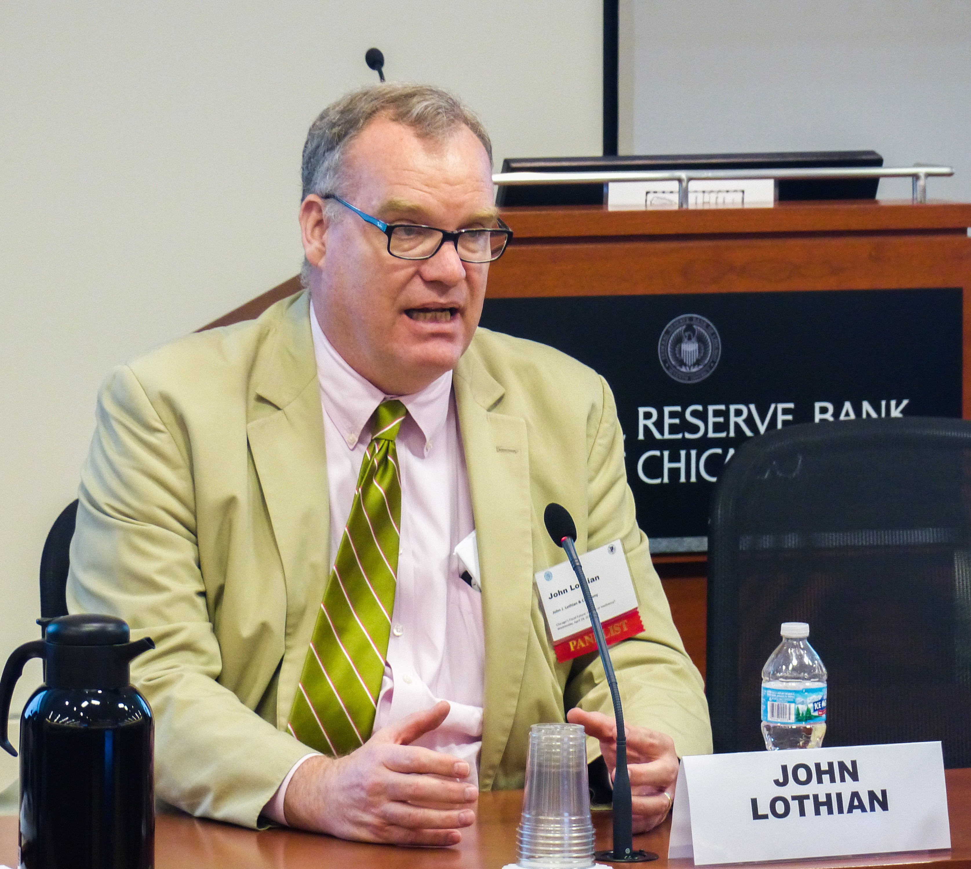 John Lothian, Federal Reserve Bank of Chicago, Civic Federation